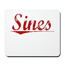 Sines, Vintage Red Mousepad