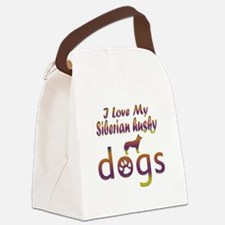 Siberian Husky designs Canvas Lunch Bag