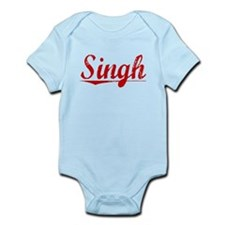 Singh, Vintage Red Infant Bodysuit