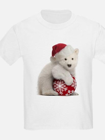 Polar Bear Cub Kids Christmas T-Shirt