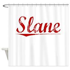 Slane, Vintage Red Shower Curtain