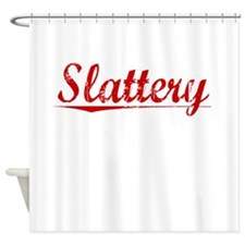 Slattery, Vintage Red Shower Curtain