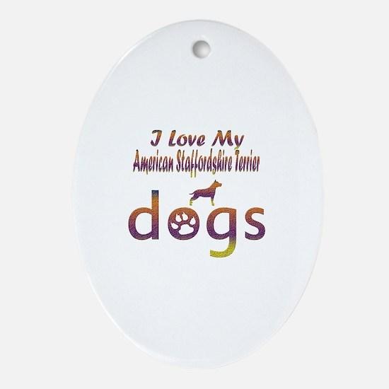 American Staffordshire Terrier designs Ornament (O