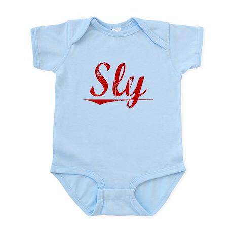 Sly, Vintage Red Infant Bodysuit