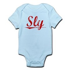 Sly, Vintage Red Infant Bodysuit