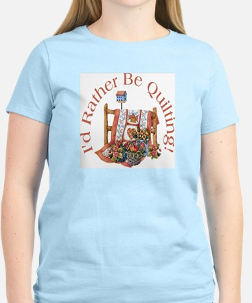 Rather Be Quilting Women's Light T-Shirt