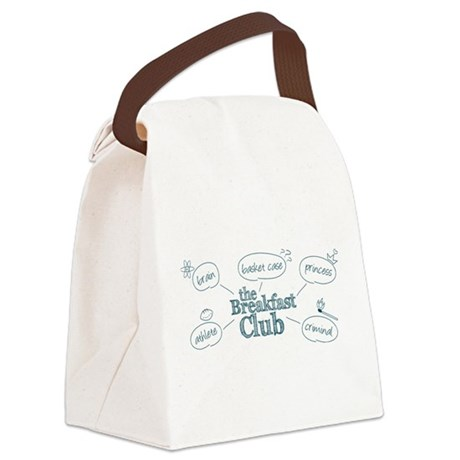 Breakfast Club Doodle Canvas Lunch Bag