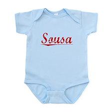Sousa, Vintage Red Infant Bodysuit