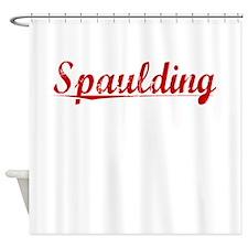 Spaulding, Vintage Red Shower Curtain