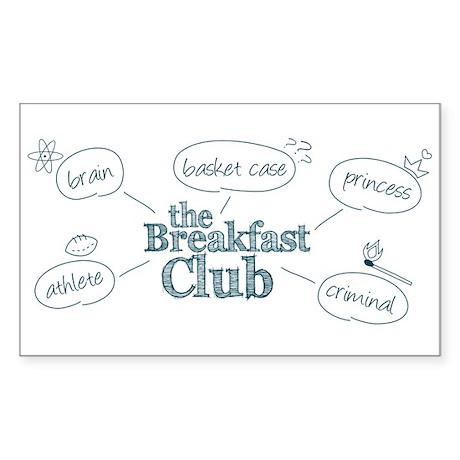 Breakfast Club Doodle Sticker (Rectangle)