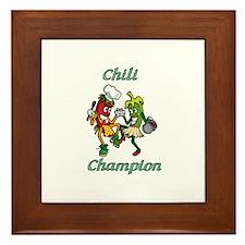 Dancing Chilis Framed Tile