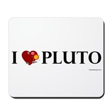 I (heart) Pluto -  Mousepad