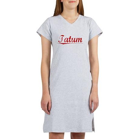 Tatum, Vintage Red Women's Nightshirt