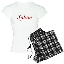 Tatum, Vintage Red Pajamas