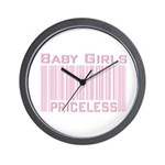 Pink Baby Girls Priceless New Mom Wall Clock