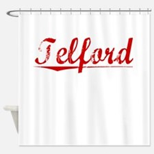 Telford, Vintage Red Shower Curtain
