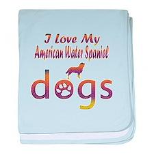 American Water Spaniel designs baby blanket