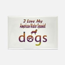 American Water Spaniel designs Rectangle Magnet (1