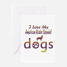 American Water Spaniel designs Greeting Card