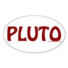 Pluto Oval Decal
