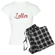 Toller, Vintage Red pajamas