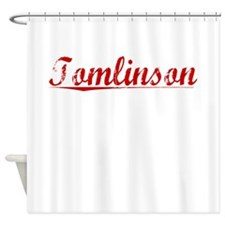 Tomlinson, Vintage Red Shower Curtain