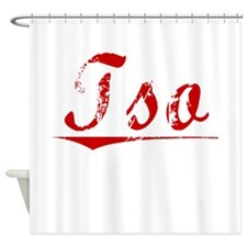 Tso, Vintage Red Shower Curtain
