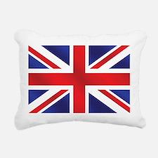 Union Jack UK Flag Rectangular Canvas Pillow