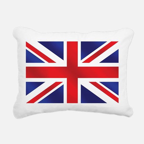 Union Jack UK Flag Rectangular Canvas Pillow