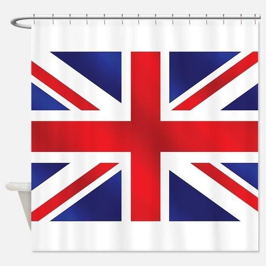 Union Jack UK Flag Shower Curtain