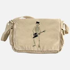 Skeleton Guitar Player Messenger Bag