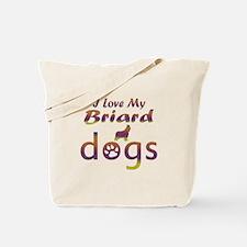 Briard designs Tote Bag