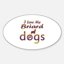 Briard designs Decal