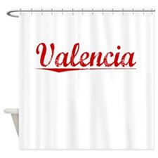 Valencia, Vintage Red Shower Curtain