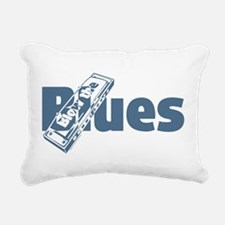 Harmonica Blues Rectangular Canvas Pillow