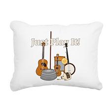 Just Play It! Rectangular Canvas Pillow