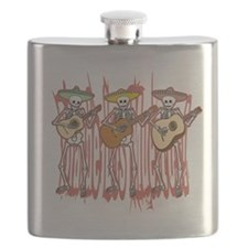 Mariachi Skeleton Trio Flask