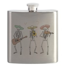 Mariachi Skeletons Flask