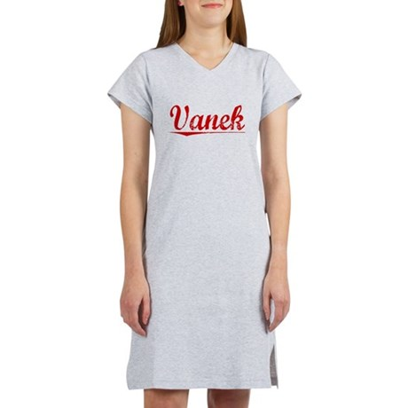 Vanek, Vintage Red Women's Nightshirt