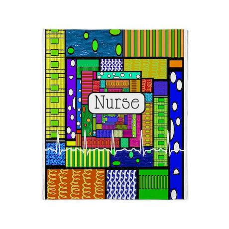 Nurse Vertical 1.PNG Throw Blanket