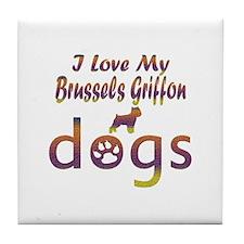 Brussels Griffon designs Tile Coaster