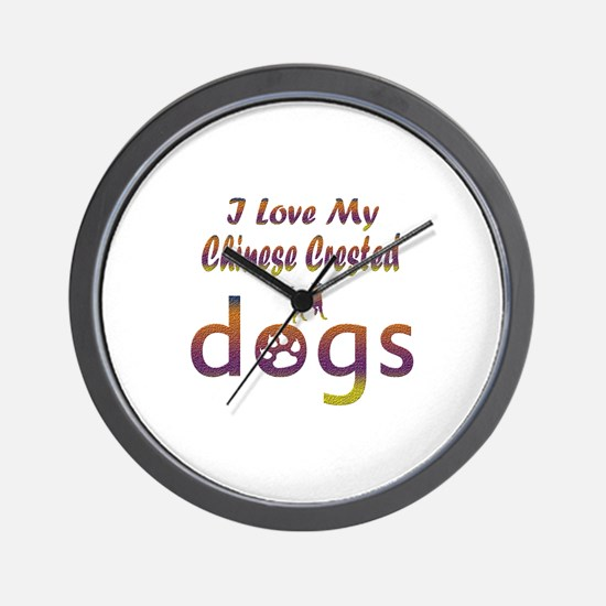 Chinese Crested designs Wall Clock