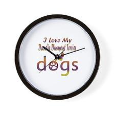 Dandie Dinmont Terrier designs Wall Clock