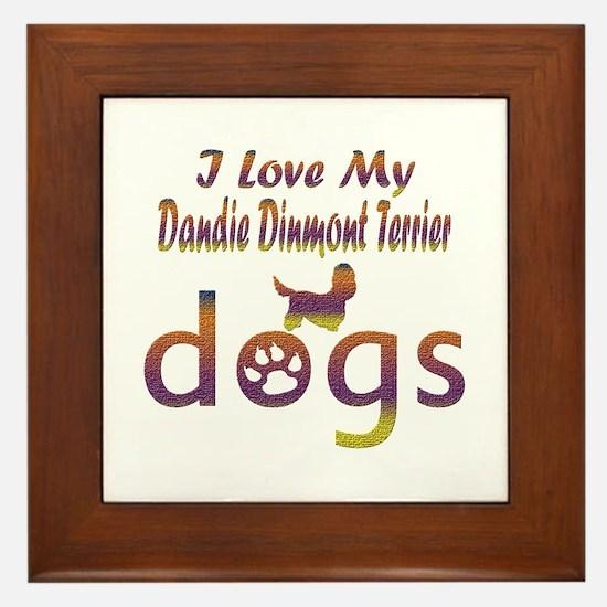 Dandie Dinmont Terrier designs Framed Tile