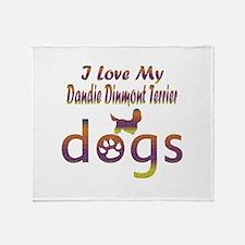 Dandie Dinmont Terrier designs Throw Blanket