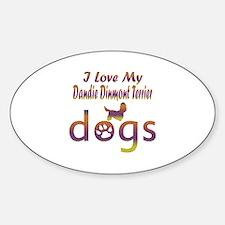 Dandie Dinmont Terrier designs Sticker (Oval)