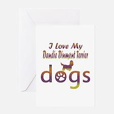 Dandie Dinmont Terrier designs Greeting Card