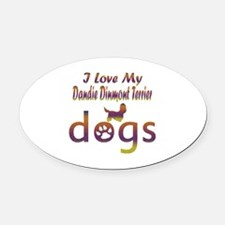 Dandie Dinmont Terrier designs Oval Car Magnet
