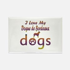 Dogue de Bordeaux designs Rectangle Magnet (100 pa