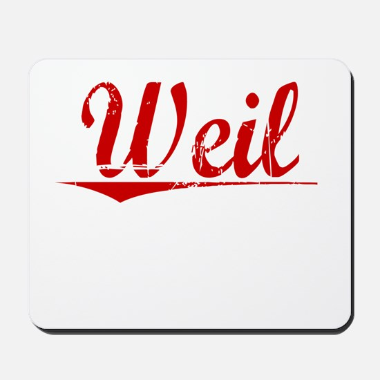 Weil, Vintage Red Mousepad